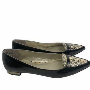 Madeline Women's Pointed Toe Snakeskin Flats Shoes